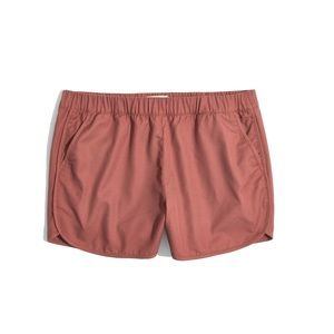Madewell Pull-On Shorts in Autumn Berry